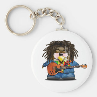 Rasta Rocker Reggae Tux Keychain