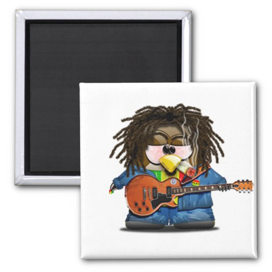 Rasta Rocker Reggae Tux Magnet