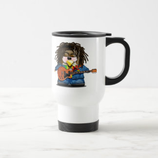 Rasta Rocker Reggae Tux Travel Mug
