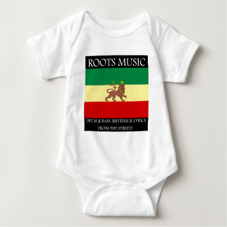 Rasta - Roots Music Ethiopia Flag Lion of Judah Baby Bodysuit