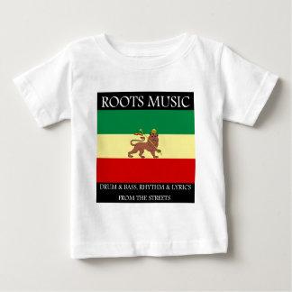 Rasta - Roots Music Ethiopia Flag Lion of Judah Baby T-Shirt