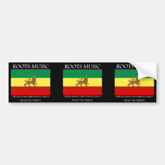 Rasta - Roots Music Ethiopia Flag Lion of Judah Bumper Sticker