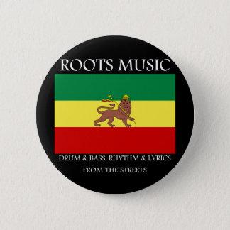 Rasta - Roots Music Ethiopia Flag Lion of Judah Button