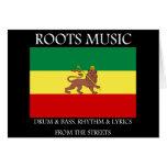 Rasta - Roots Music Ethiopia Flag Lion of Judah Greeting Cards