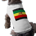 Rasta - Roots Music Ethiopia Flag Lion of Judah Dog Clothing