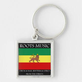 Rasta - Roots Music Ethiopia Flag Lion of Judah Keychain