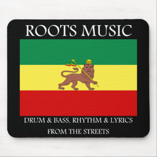 Rasta - Roots Music Ethiopia Flag Lion of Judah Mouse Pad