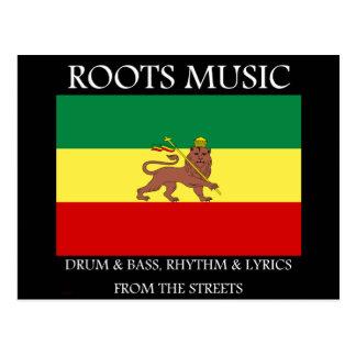 Rasta - Roots Music Ethiopia Flag Lion of Judah Postcard