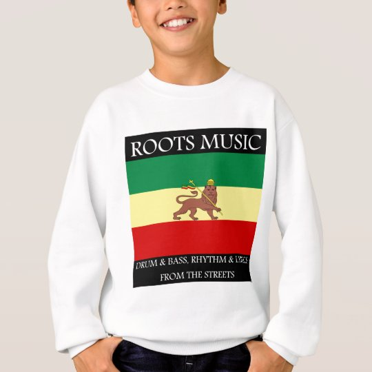 Rasta - Roots Music Ethiopia Flag Lion of Judah Sweatshirt