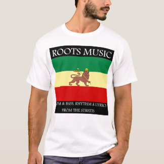 Rasta - Roots Music Ethiopia Flag Lion of Judah T-Shirt