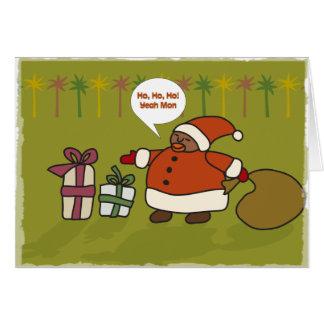 Rasta Santa Card