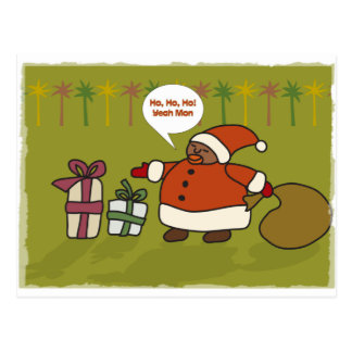 Rasta Santa Postcard