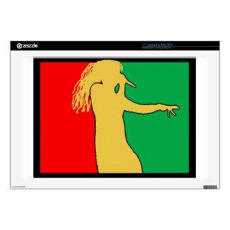 "Rasta Singer Silhouette 17"" Laptop Skin"