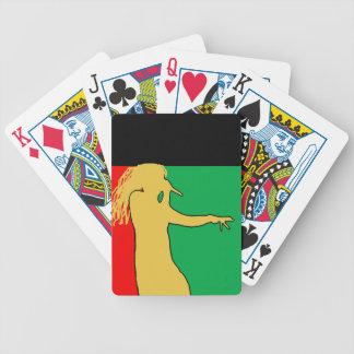 Rasta Singer Silhouette Bicycle Playing Cards