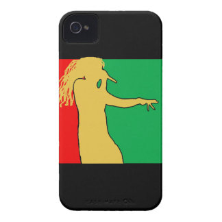 Rasta Singer Silhouette Case-Mate iPhone 4 Cases