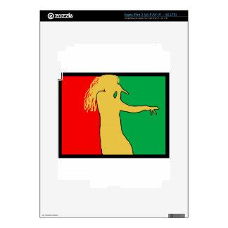 Rasta Singer Silhouette Decal For iPad 3
