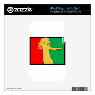 Rasta Singer Silhouette Decal For iPod Touch 4G