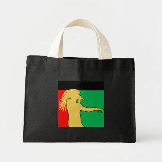 Rasta Singer Silhouette Mini Tote Bag