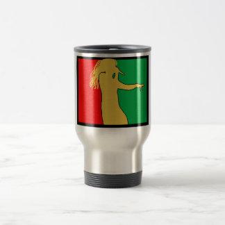 Rasta Singer Silhouette Travel Mug