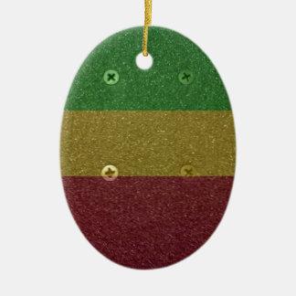 Rasta Skateboard Griptape Christmas Ornament