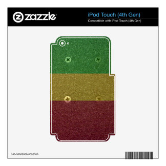 Rasta Skateboard Griptape Decals For iPod Touch 4G