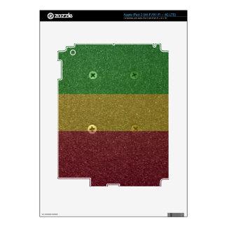 Rasta Skateboard Griptape iPad 3 Skins