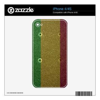Rasta Skateboard Griptape iPhone 4 Skins