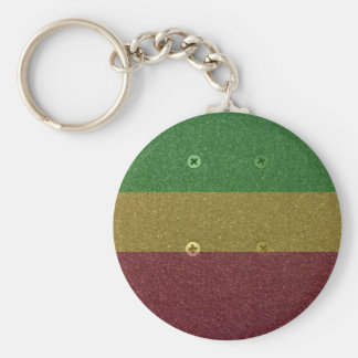 Rasta Skateboard Griptape Key Chains