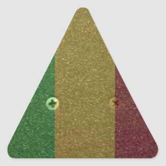 Rasta Skateboard Griptape Triangle Sticker