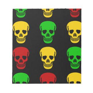 Rasta Skulls Notepad