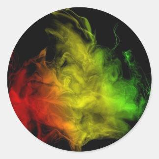 Rasta Smoke Sticker