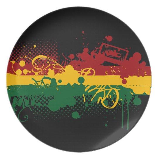Rasta Soul Melamine Plate