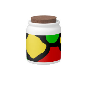 Rasta Spots Candy Dishes