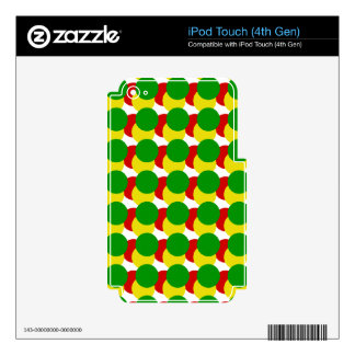 Rasta Spots Skin For iPod Touch 4G