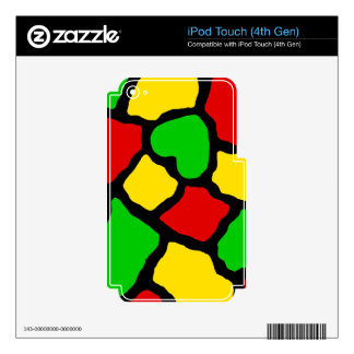 Rasta Spots Skins For iPod Touch 4G