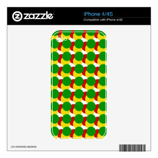 Rasta Spots Skins For The iPhone 4S