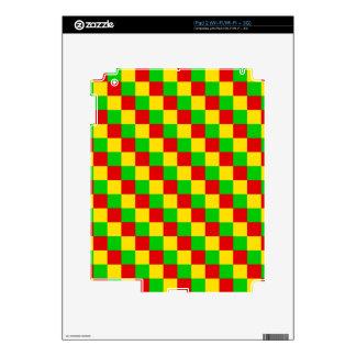 Rasta Squares Skins For The iPad 2