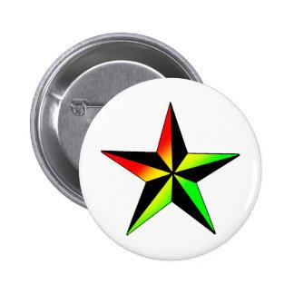 Rasta Star 2 Inch Round Button