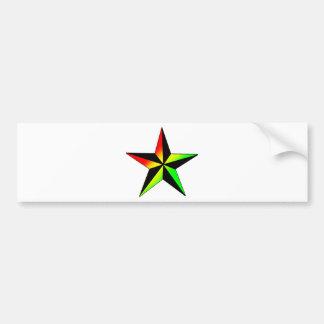 Rasta Star Bumper Stickers