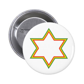 Rasta Star of David Pin