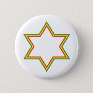 Rasta Star of David Pinback Button