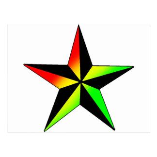 Rasta Star Postcard