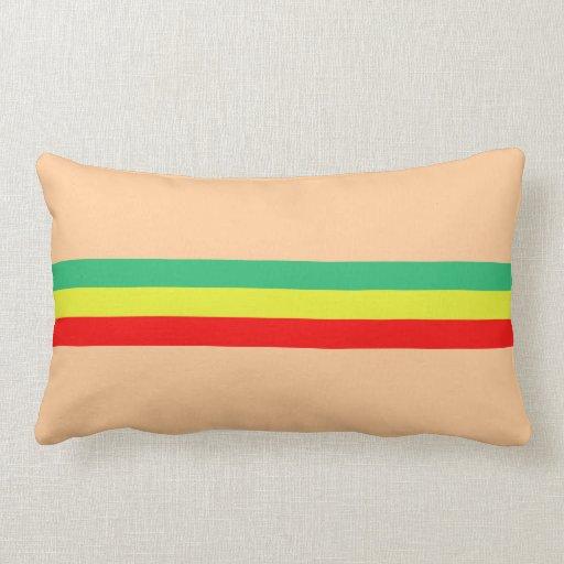 Rasta Striped Home Decor Pillows Zazzle