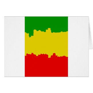 Rasta Stripes Design Cards