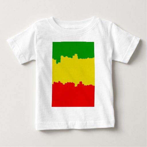 Rasta Stripes Design T Shirt