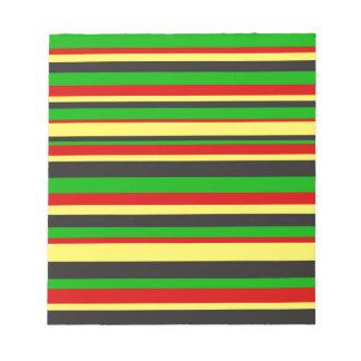 Rasta Stripes Notepad