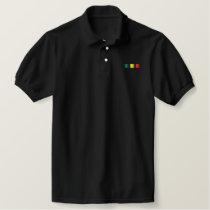 Rasta Stripes Polo Shirt