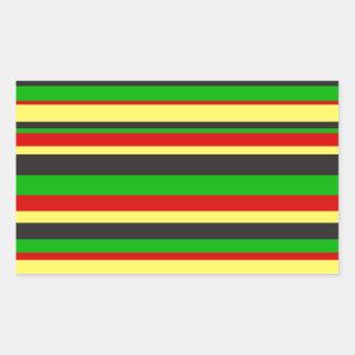 Rasta Stripes Rectangular Sticker