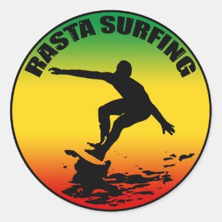 Rasta Surfing Sticker