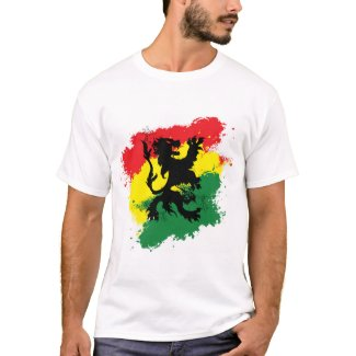 Rasta T-shirt (Mens): Rasta Lion of Judah